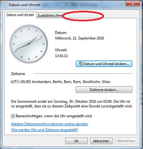 Uhrzeit einstellen - (Windows 7, Uhrzeit, Internetzeit)