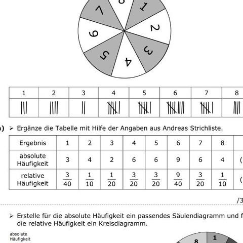 Bei Aufgabe a  - (Schule, Mathematik, Stochastik)