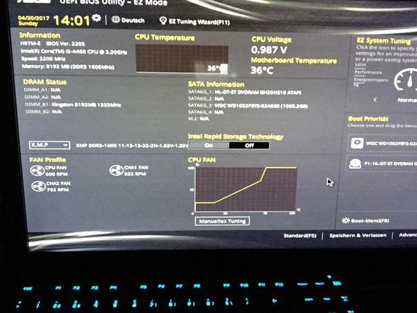 Hier wenn ich dann F1 drücke - (Computer, PC, Asus)