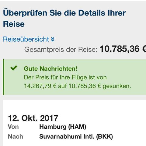 Hier der flug - (Preis, Flugzeug, Hamburg)