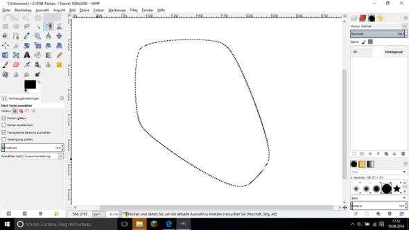 Ich möchte diese Form kopieren und kleiner nocheinmal einfügen. - (Computer, Gimp, Zeichenprogramm)