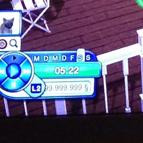 999.999.999 Geld - (PS3, Sims3, Cheat)