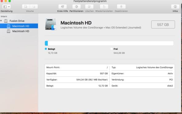 Haupt Festplatte die am ende die einzige sein sollte - (Computer, Mac, Festplatte)