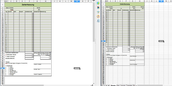 Bild des Problems  - (Excel, Tabelle, OpenOffice)