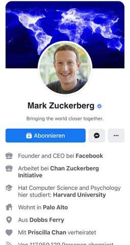 Wie kriegt man auf Facebook den ,,Abonnieren'' Button?
