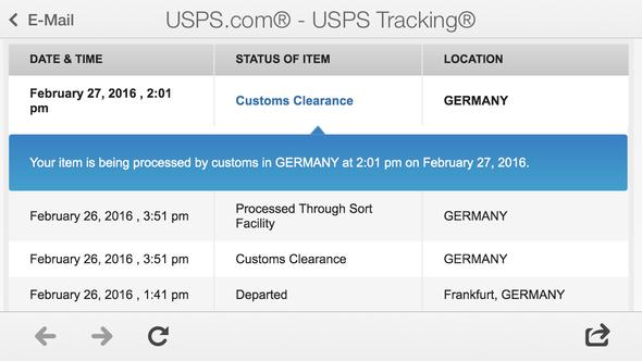 Tracking - (USA, Paket, Zoll)