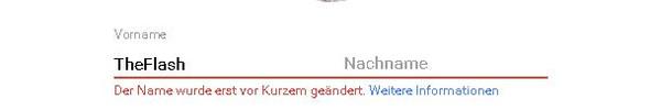 Fehlermeldung - (Youtube, Windows, Namen)
