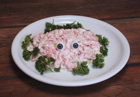 - (Ernährung, Nahrungsmittel, fleischsalat)