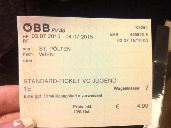 Zugticket - (Bahn, Ticket, BB)