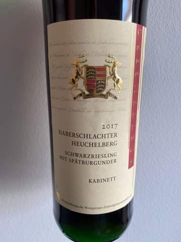Wie lange kann ich diesen Wein im Keller lagern? 2017 Haberschlachter Heuchelberg Schwarzriesling mit Spätburgunder?