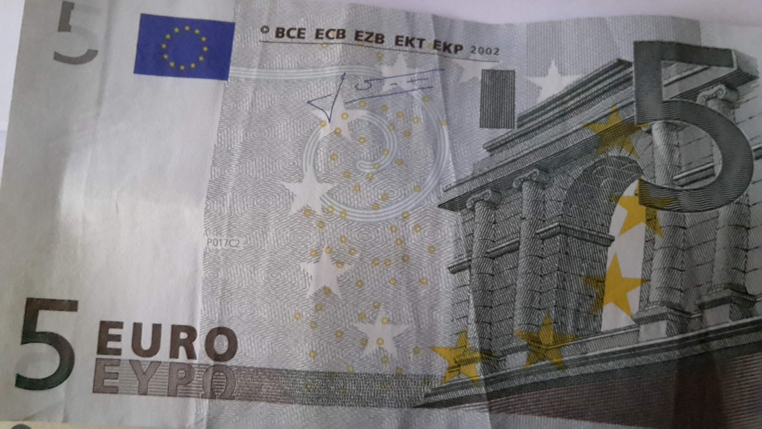 Wie lange kann ich noch mit dem älteren 5 Euro Schein