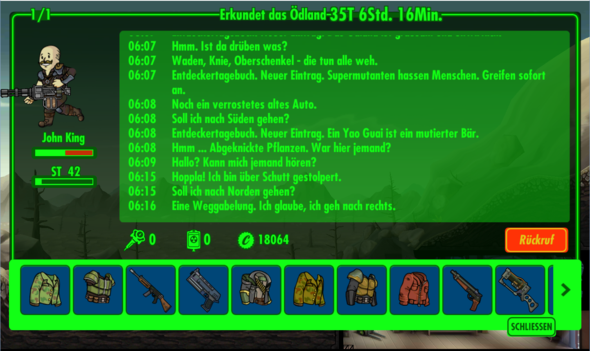 Längster Trip durchs Ödland - (App, Fallout shelter)