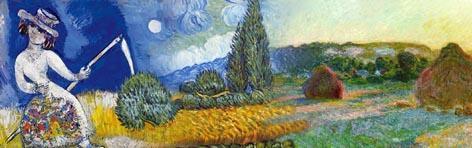 3 Gemälde, 3 Künstler - (Kunst, Künstler, Maler)