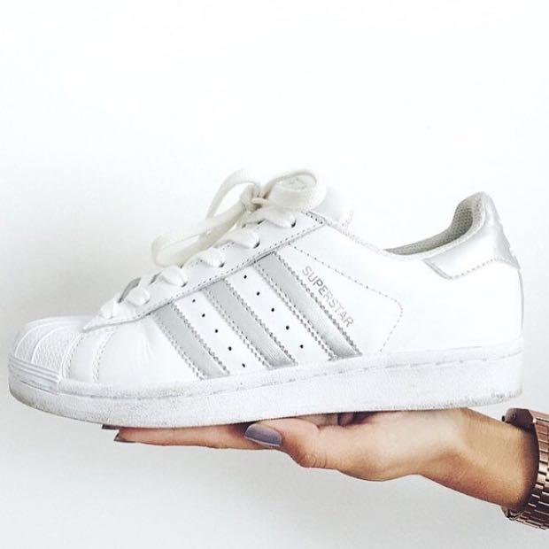 Adidas Superstar Silber Streifen