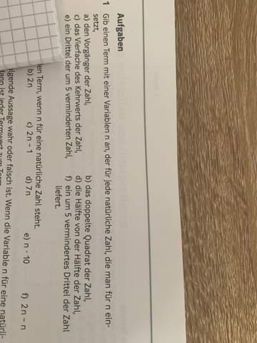 Wie lautet der Term (7 Klasse)?