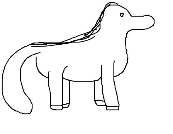 pferd - (zeichnen, malen, Skizze)