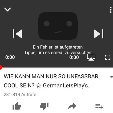 Bei jedem Video das gleiche - (Youtube, iPhone, App)