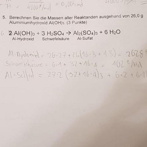 Was mit dem Bleistift geschrieben wurde müsst ihr nicht beachten - (Schule, Mathe, Chemie)