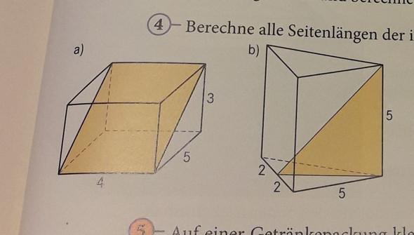 hier sieht man die beiden Figuren, habe die Geraden immer selbst benannt :D - (Schule, Mathematik, Hausaufgaben)