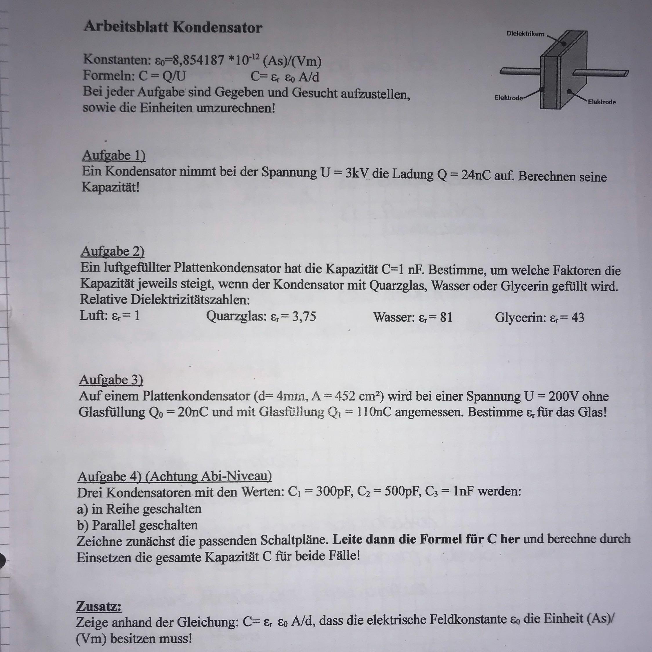 Ausgezeichnet Physik Einheit 3 Arbeitsblatt 4 Antworten Fotos ...