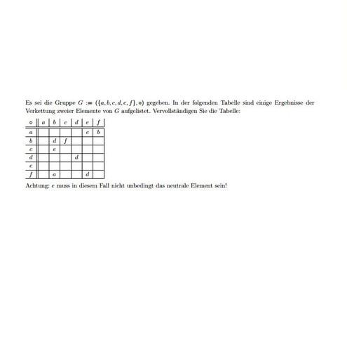 tabelle - (Mathe, Mathematik, Informatik)