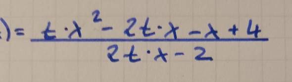 Wie mache ich Polynomdivision mit einer weiteren Variable?