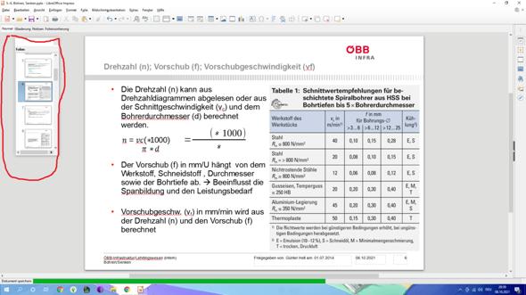 Wie macht man bei Libre Office Impress diese Folienleiste größer?