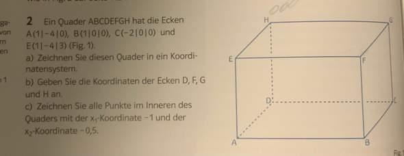 Wie macht man das (Punkte im Raum) Mathe?