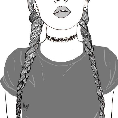 schwarz weiß bilder mädchen gezeichnet