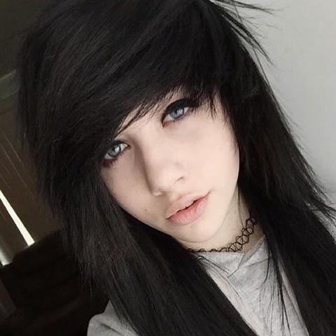 Das ist ein EMO,scene Haarschnitt für Mädchen,  - (Haare, Friseur, Emo)