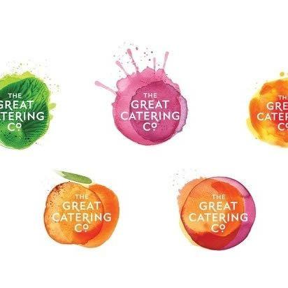 Wasserfarbenflecken in diesem Fall als Früchte mit Schriftzug - (Design, Logo)