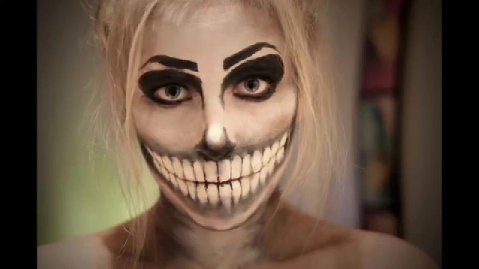 skelett halloween schminken vorlagen. Black Bedroom Furniture Sets. Home Design Ideas