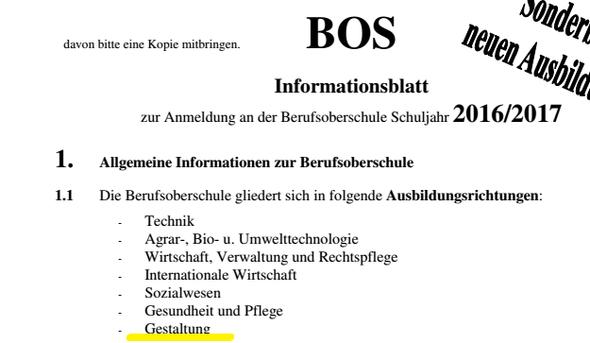 Infoblatt - (Schule, Technik, Beruf)