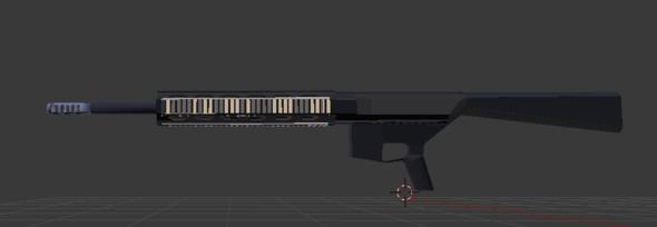 So sieht die Waffe in Blender aus - (3D, Blender, Unity)