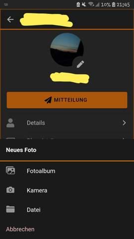Wie moodle Profilbild löschen am Handy?