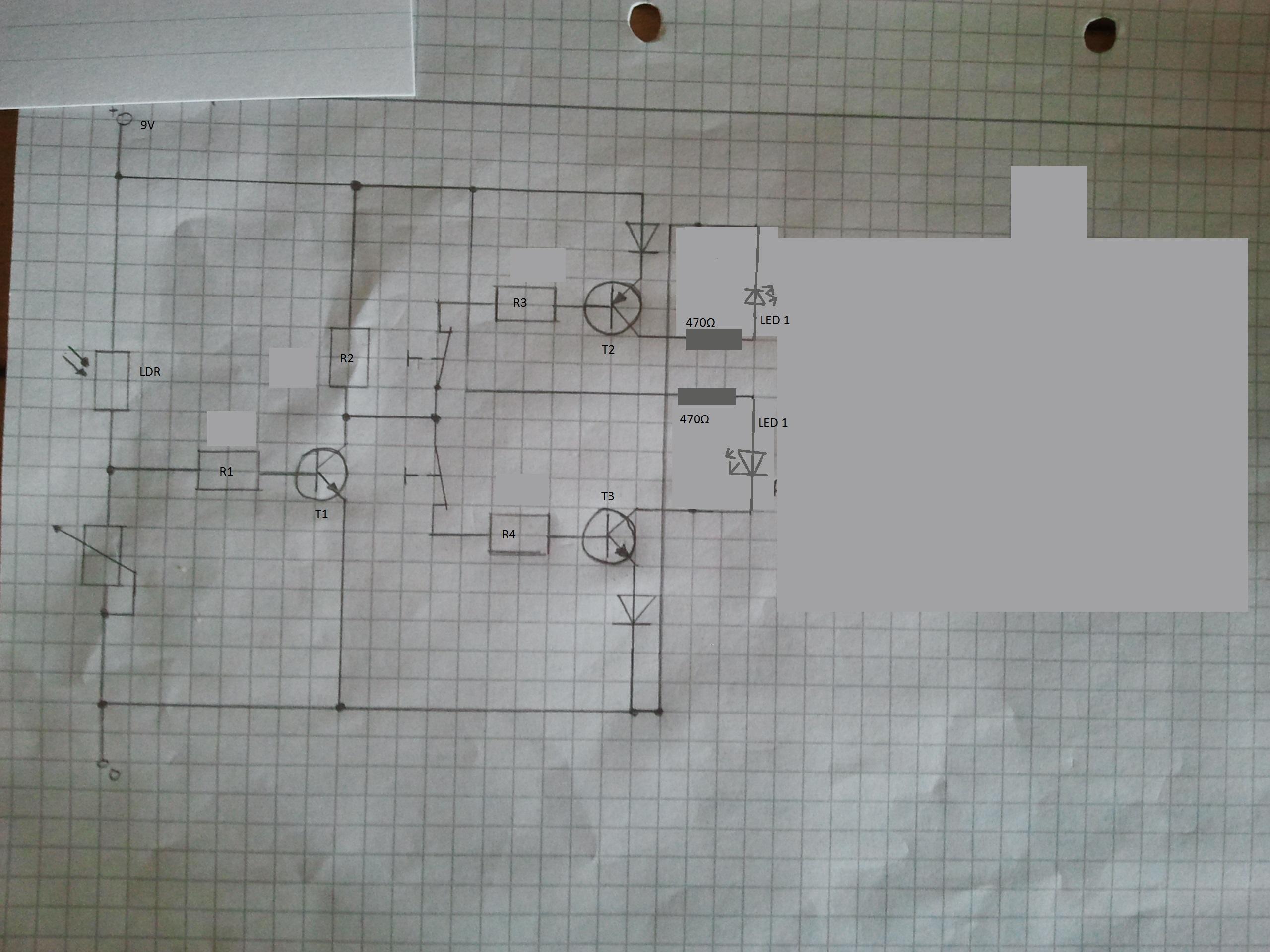Wie müsste ich diese Schaltung dimensionieren? (Elektronik, Rechnen ...
