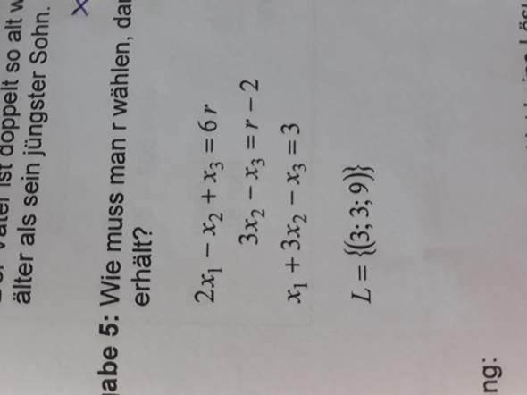Wie muss ich r wählen, damit man die angegebene Lösung erhält?
