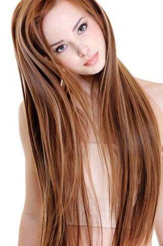 Braune Haare Kupfer Strähnen