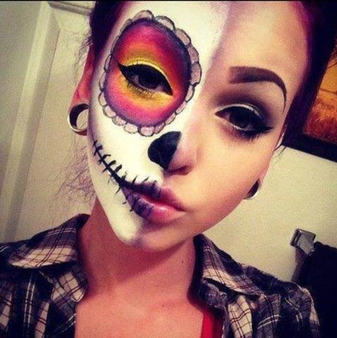 Wie nennt man diese halloween schminke - Halloween schminkideen ...