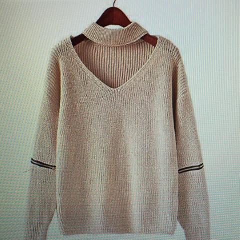 eben dieser style wo es ausgeschnitten ist ... hat dies einen bestimmten namen ? - (Style, Pullover)
