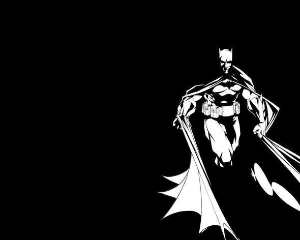 batman_schwarz-weiß Style - (Geschenk, Geburtstag, Style)
