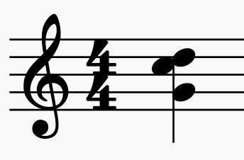 Wie nennt man folgenden Dreiklang (Beschreibung)?
