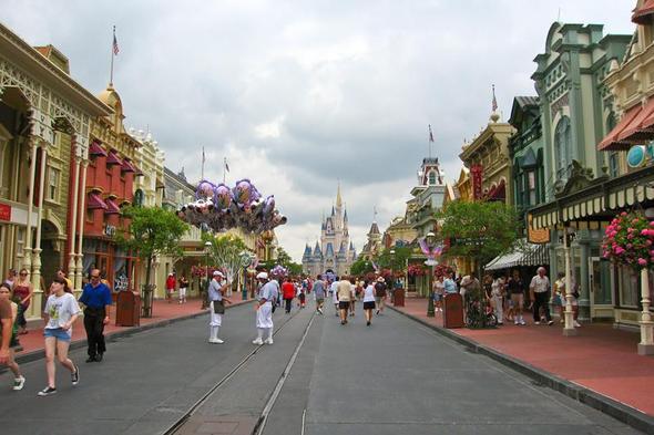 Bild von der Main Street USA aus einem Disneypark - (USA, Gehäuse, Stil)