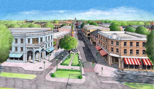 Artwork Hill Valley - Back To The Future - (USA, Gehäuse, Stil)