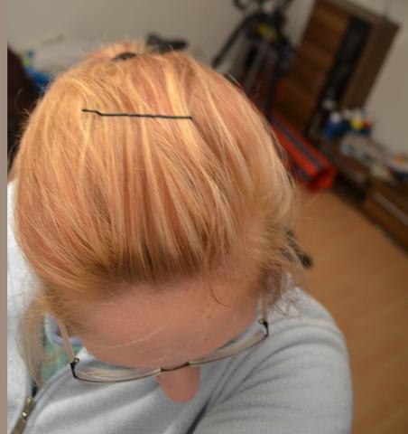 Abmattierung nach blondierung