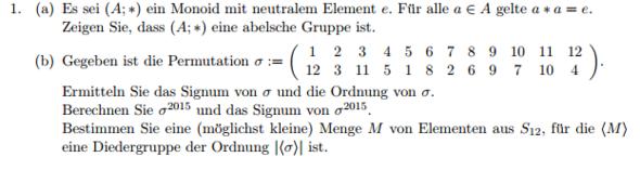 Aufgabenstellung - (Mathematik, Algebra)