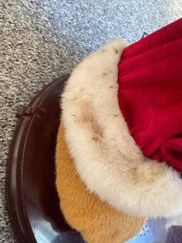 Wie putze ich Fell/ Stoff  Weihnachtsmann?