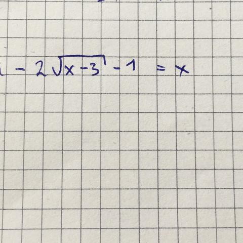 Diesen Term soll ich quadrieren und je nach dem nach x auflösen was ja schon ist - (Mathe, pq-Formel, quadrieren)