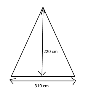 Wie rechne ich den Umfang dieses Dreiecks aus?