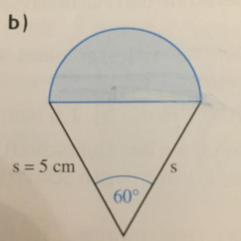 Wie rechne ich den Flächeninhalt der blauen Fläche aus ? - (Mathe, Formel, Dreieck)